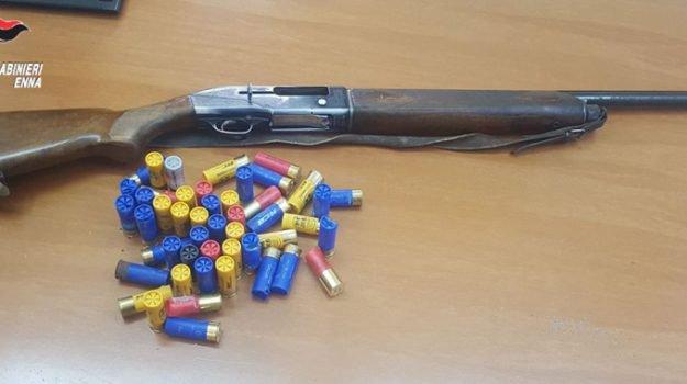 Trovato con un fucile rubato e 50 cartucce, arrestato nell'Ennese