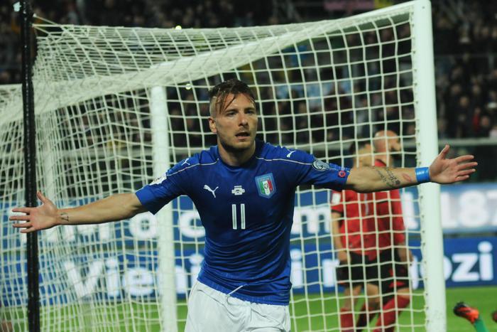 Palermo porta bene agli azzurri, un gol per tempo e l'Albania è ko