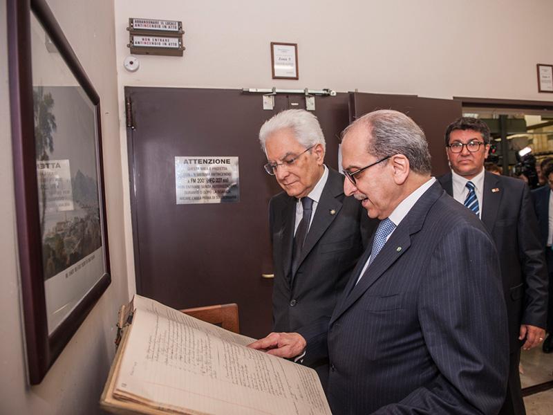 Il presidente Mattarella a Palermo alla Fondazione Chiazzese