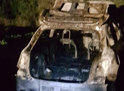 Siracusa, auto rubata trovata bruciata ai Pantanelli