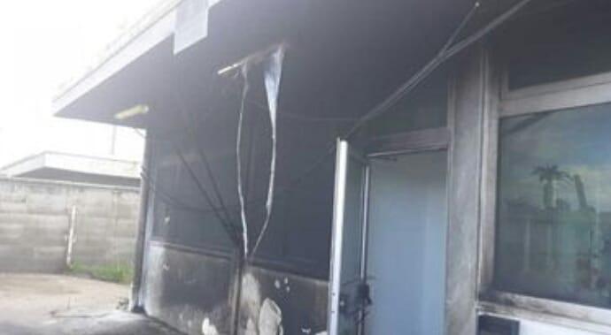 Incendio doloso  danneggia l' Ufficio delle Dogane di Gela