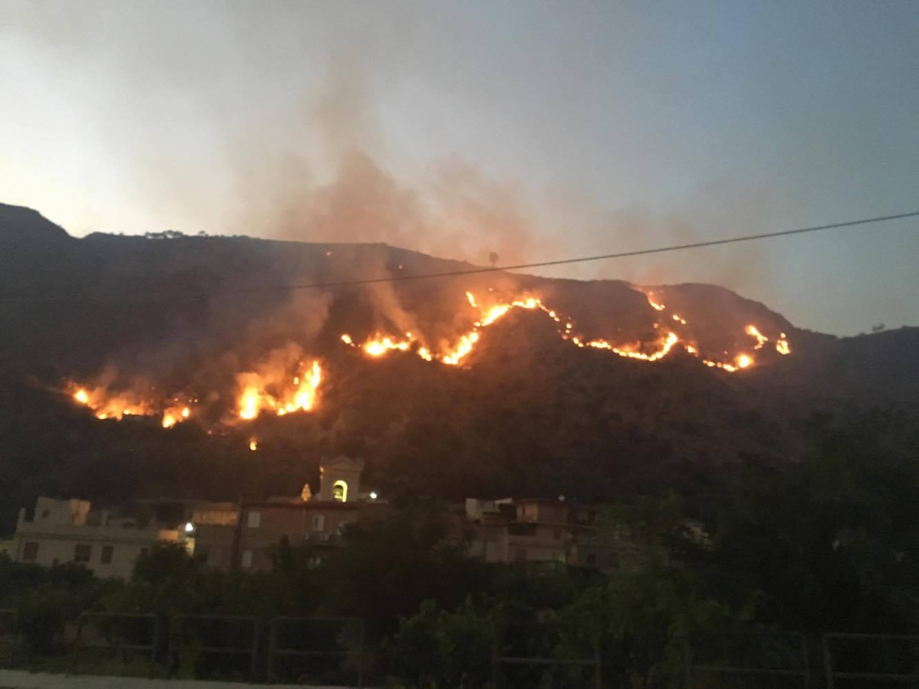 Incendi, roghi nella notte in Calabria: emergenza nel Vibonese