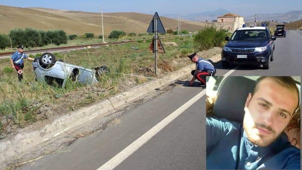 Auto in una scarpata sulla Palermo - Agrigento: morto un 24enne