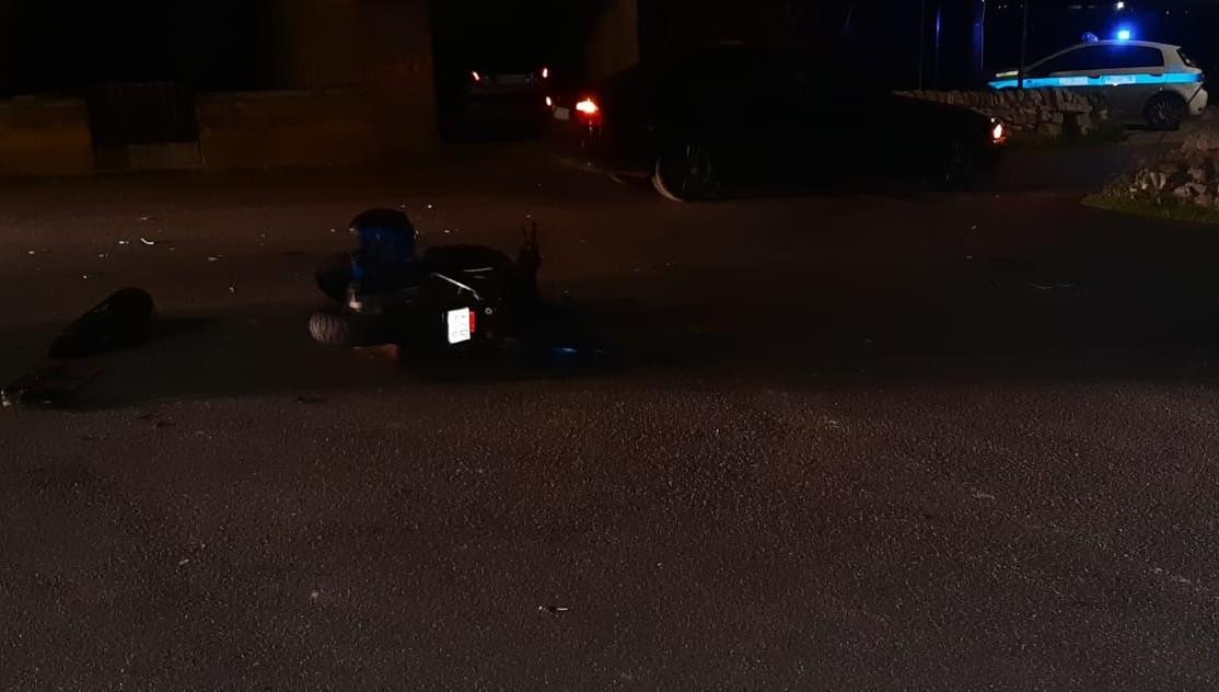 Modica, si scontra con un'auto alla Sorda: ferito uno scooterista