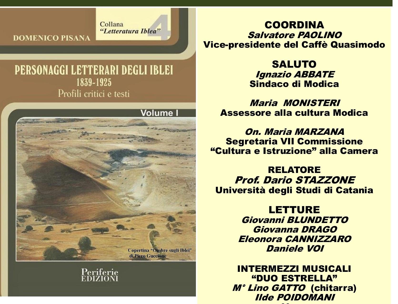 Modica, al Palacultura si presenta l'ultimo libro di Domenico Pisana