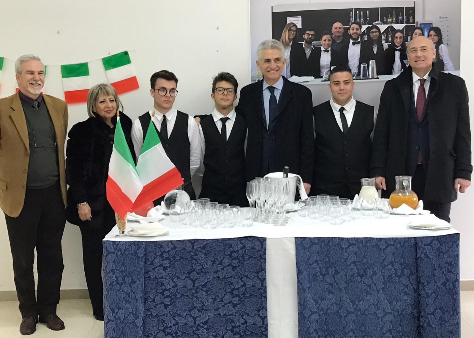 "Vittoria, i Commissari governativi in visita all'istituto alberghiero ""Marconi"""