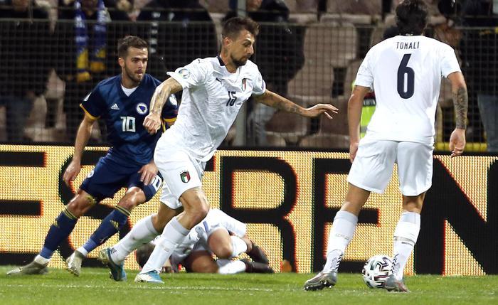 Euro 2020, grande Italia in Bosnia: tre gol degli azzurri e decima vittoria di fila