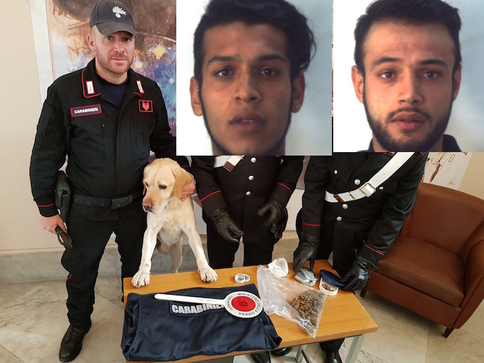 Ragusa, blitz antidroga dei carabinieri: arrestati due fratelli albanesi