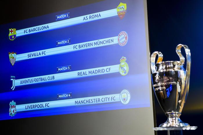 Sorteggio Champions, Roma e Juve contro le grandi di Spagna