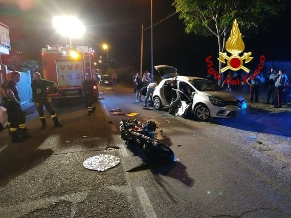 Incidente stradale nella notte a Lamezia Terme: 5 feriti