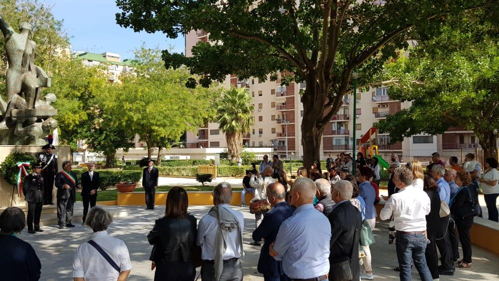 Restaurato il monumento dei caduti del lavoro a Palermo: cerimonia col sindaco