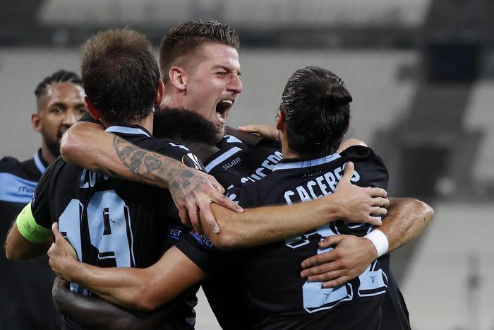 Europa League, una grande Lazio si impone al Marsiglia e gli fa 3 gol