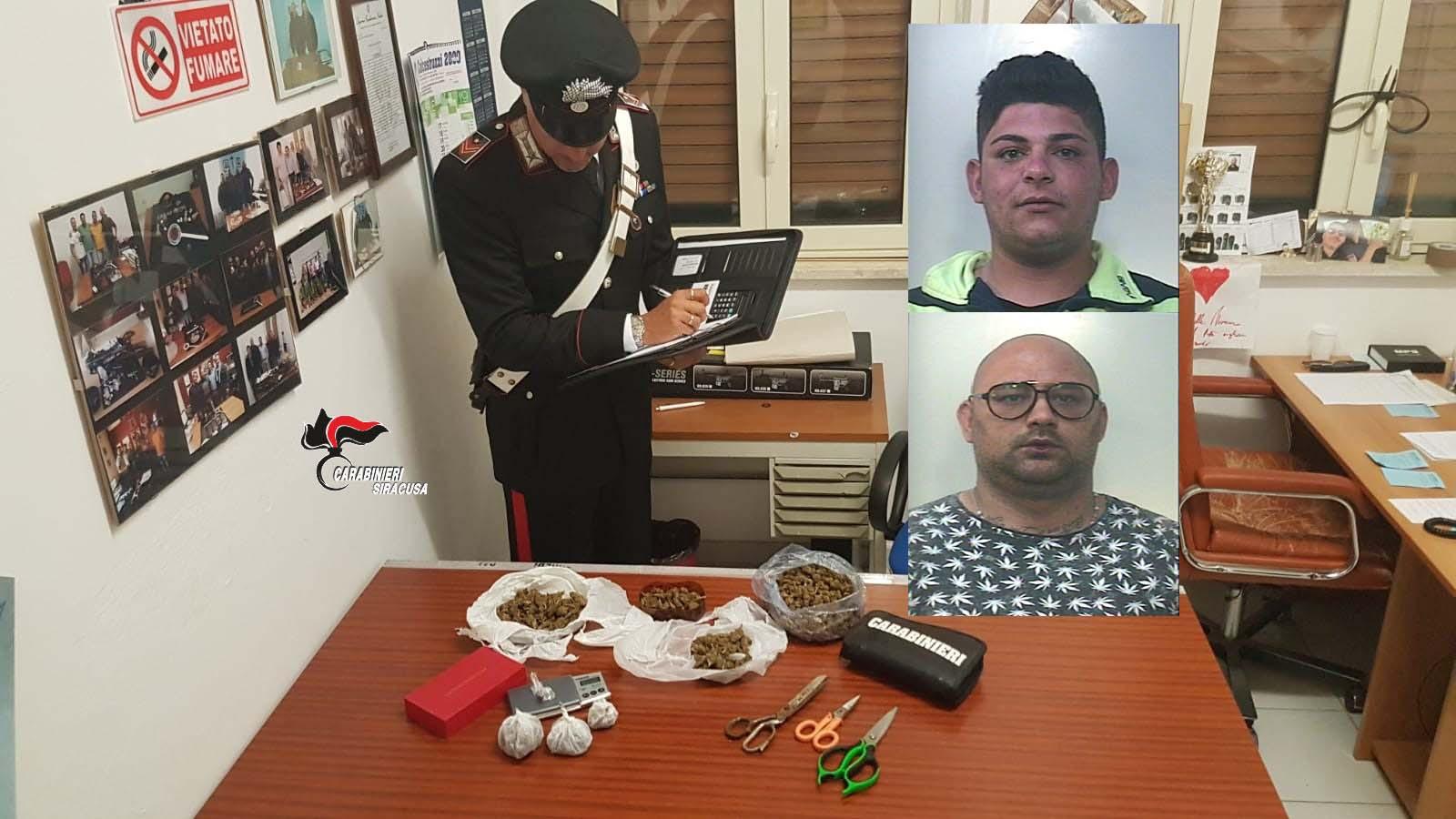 Hashish e marijuana già in dosi: due arresti a Noto per spaccio di stupefacenti