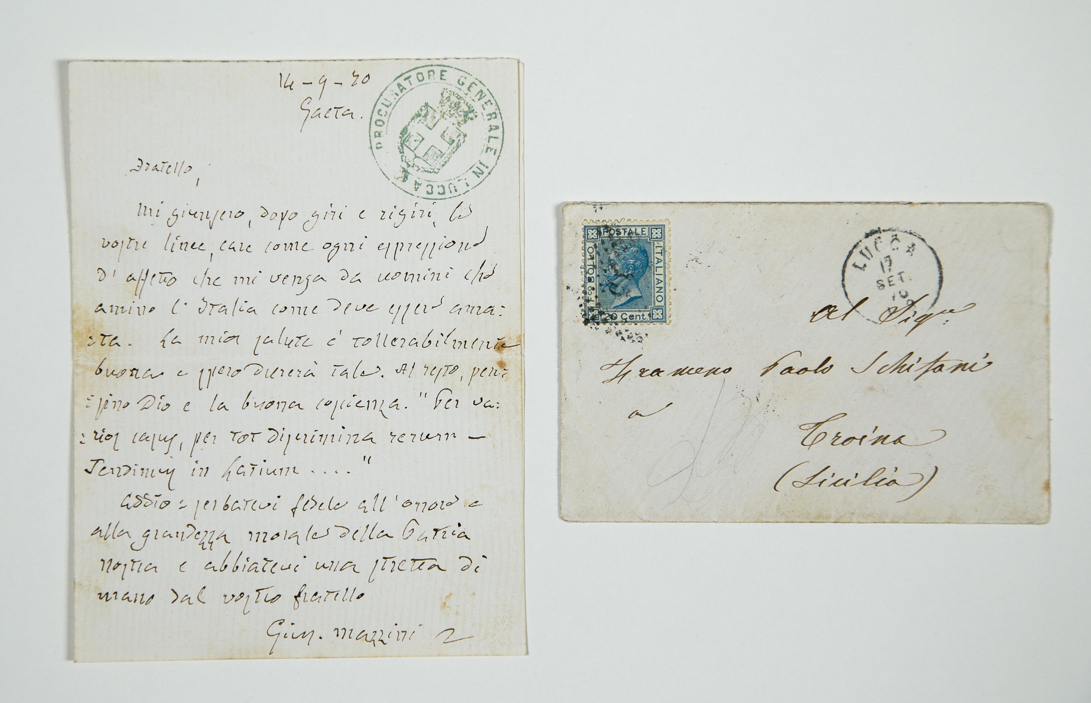 Troina, scoperto archivio di lettere inedite di Mazzini e Garibaldi