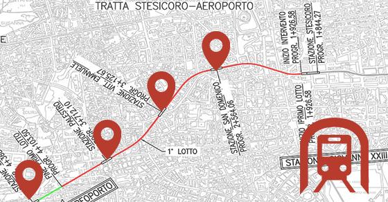 Nodo intermodale metro-ferrovia con l'aeroporto di Catania