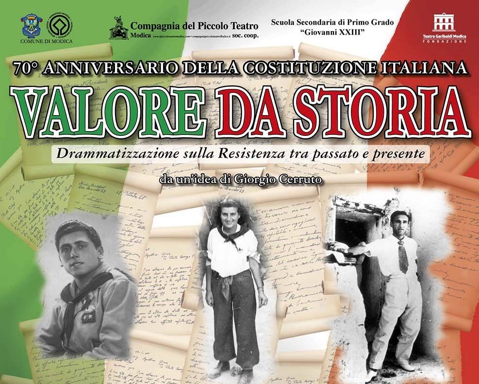 Modica, al Teatro Garibaldi il 4 giugno uno spettacolo sulla Resistenza