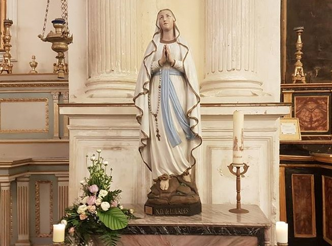 Modica, a Santa Maria di Betlem la statua originale della Madonna di Lourdes