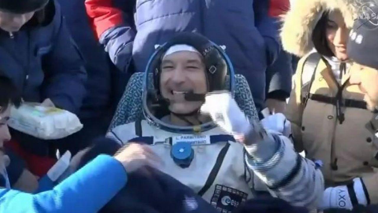 """Prima intervista all'astronauta Luca Parmitano: """"Mi sento in forma"""""""