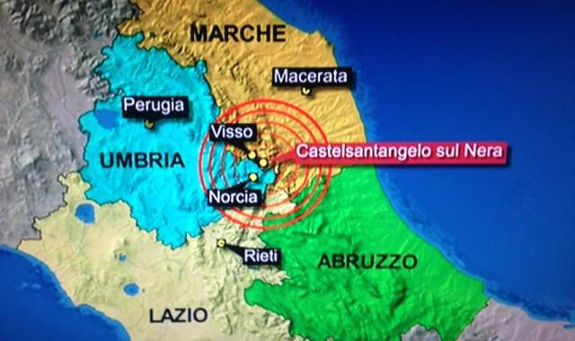 Forte scossa di terremoto in provincia di Macerata di magnitudo 4.3