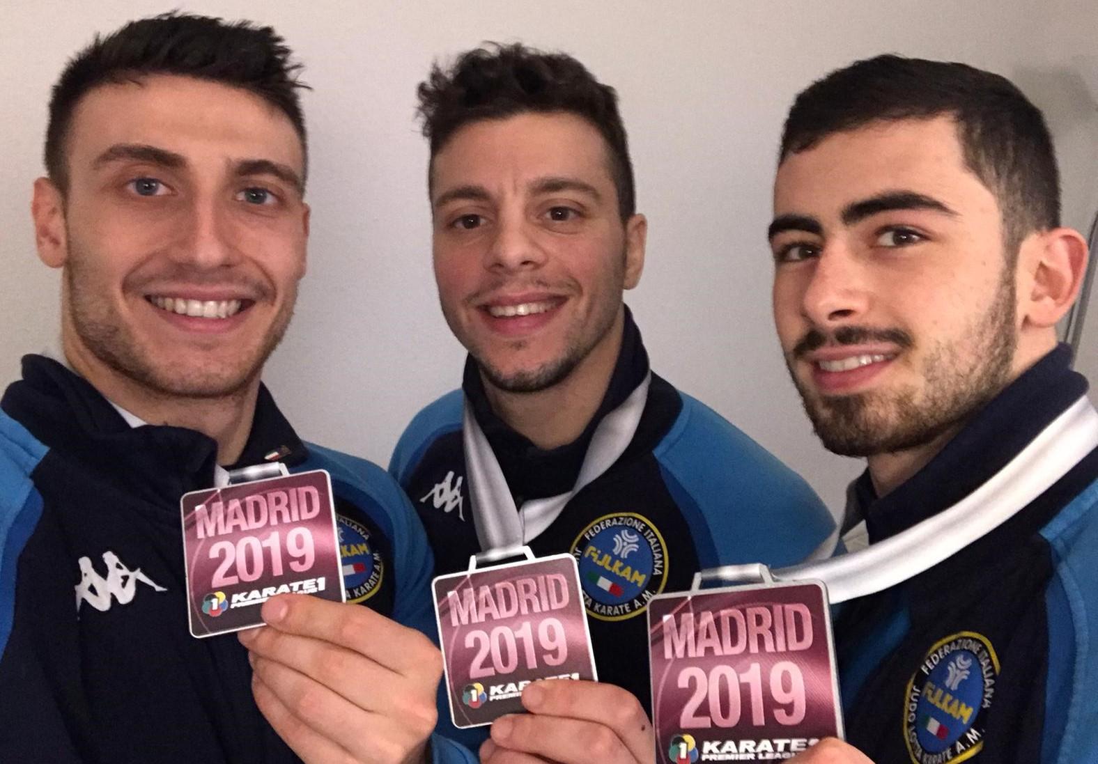 Karate, il vittoriese Giuseppe Panagia argento con la Nazionale italiana a Madrid