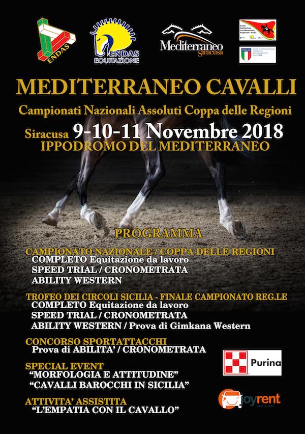Ippica, a Siracusa tre giorni di equitazione Endas all'Ippodromo del Mediterraneo