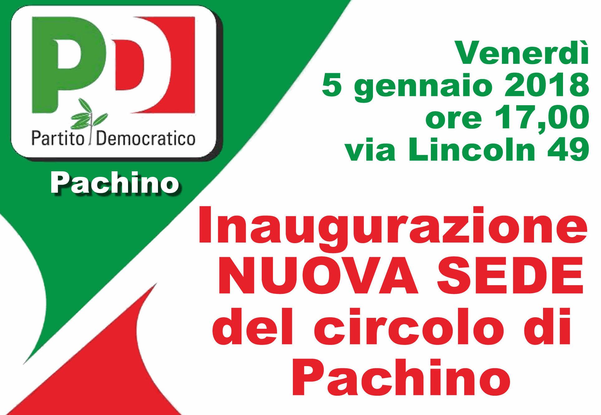 PD, venerdì l'inaugurazione della nuova sede del circolo di Pachino
