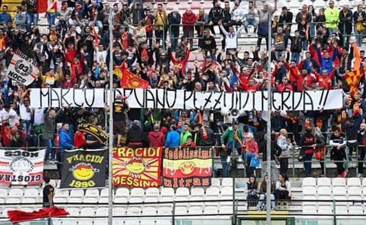Striscioni al 'San Filippo' contro un cronista, solidarietà a Messina