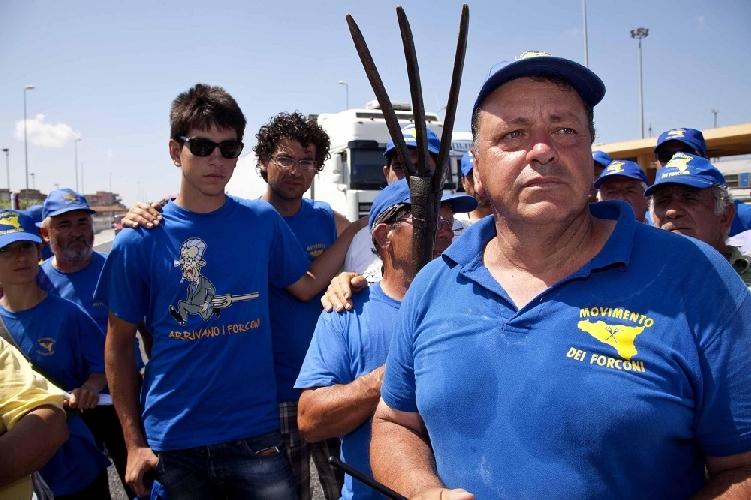 Il leader dei Forconi Mariano Ferro a Ragusa  si schiera con Musumeci