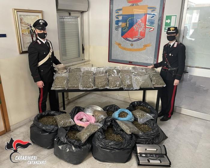 In casa con 54 chili di marijuana: coppia arrestata a Lamezia Terme