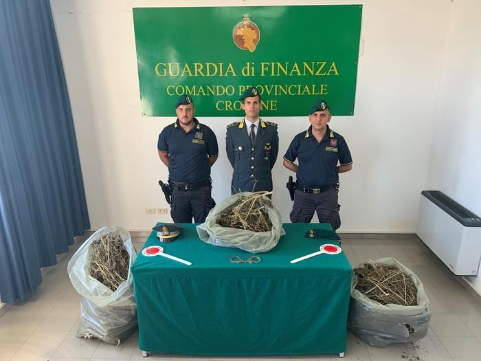 Tredici chili di marijuana in un casolare di Isola Capo Rizzuto: due arresti