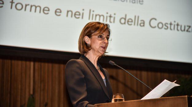 """La ministra Cartabia a Catania: """"Bloccati dalla pandemia, ma siamo ripartiti"""""""