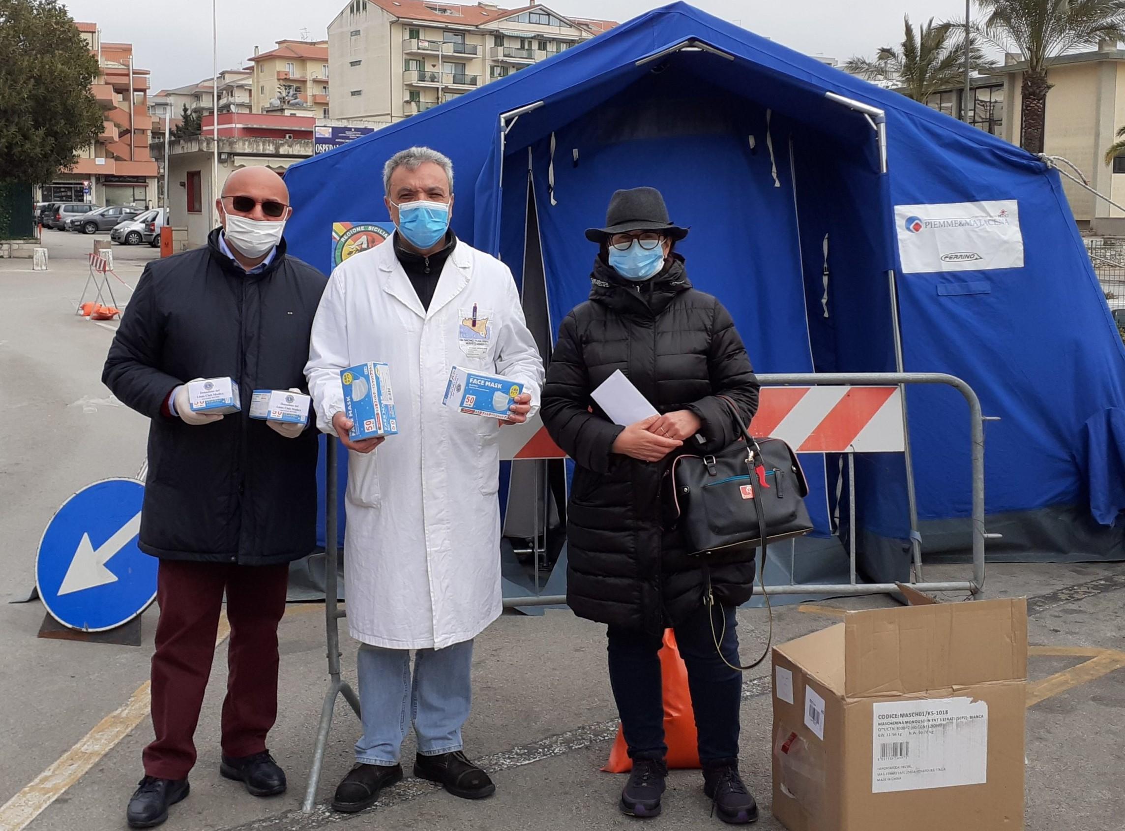 Modica, il Lions dona 1400 mascherine all'ospedale