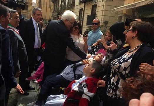 Palermo, Mattarella incontra i disabili e i loro parenti