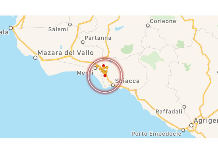 Non si arresta lo sciame sismico nell'Agrigentino: due scosse a Menfi