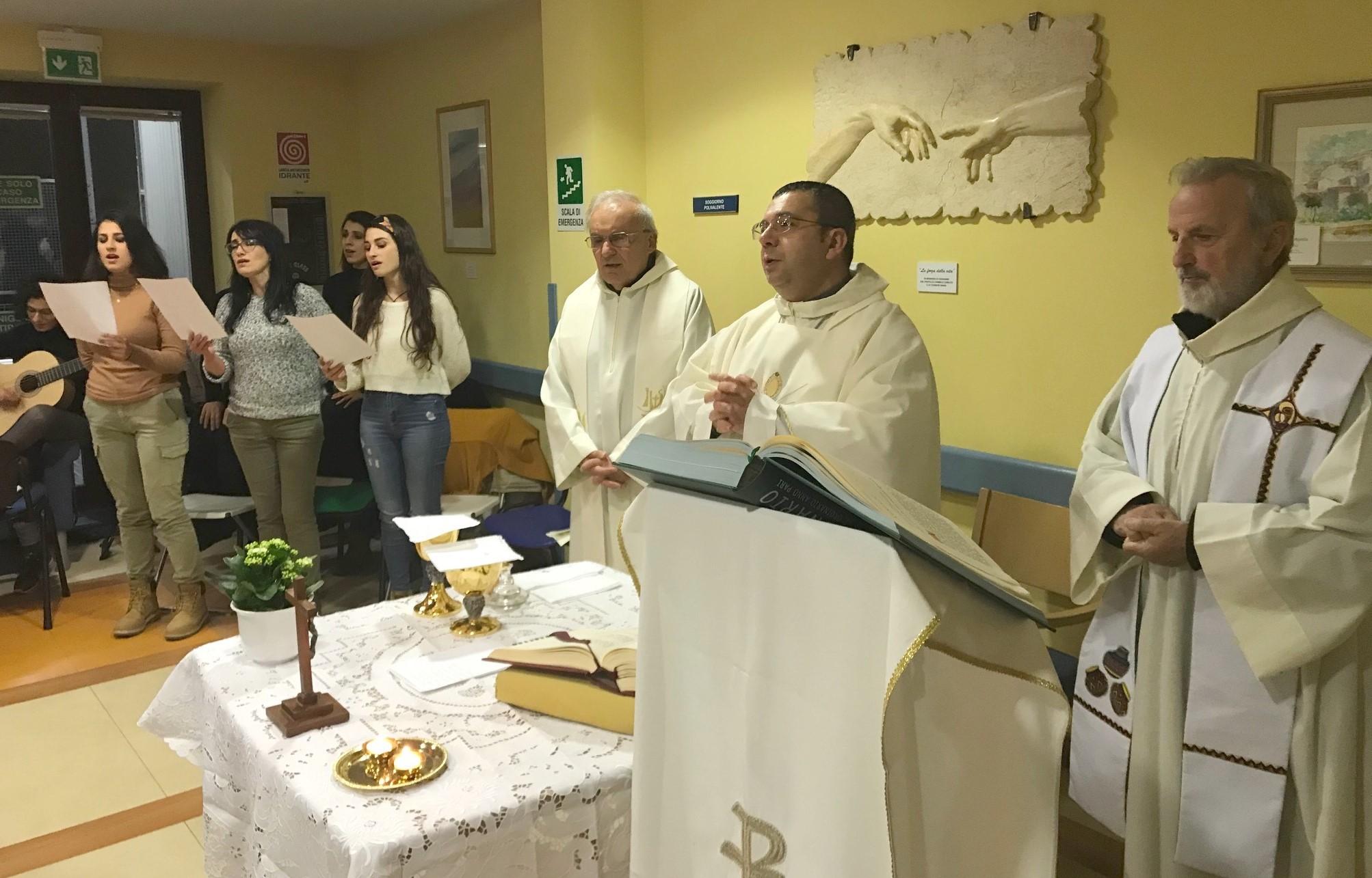 Modica, all'Hospice dell'ospedale Maggiore celebrata la messa per la città