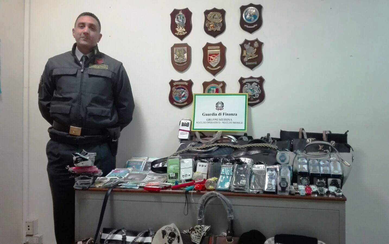 Merce contraffatta sequestrata dalla Guardia di finanza a Messina