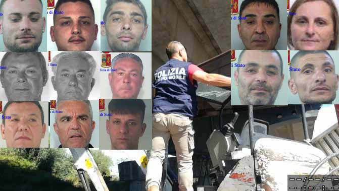 Ragusa, presa gang specializzata in furti di mezzii: 17 arresti
