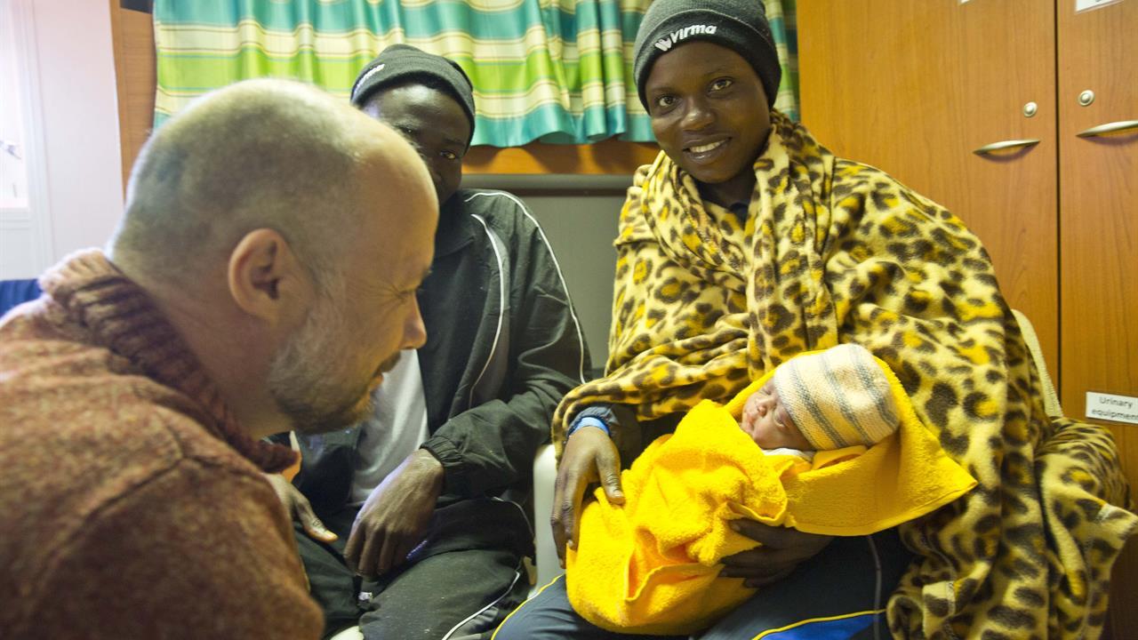 Nasce a Catania sulla nave Acquarius dei migranti  la  piccola Mercy