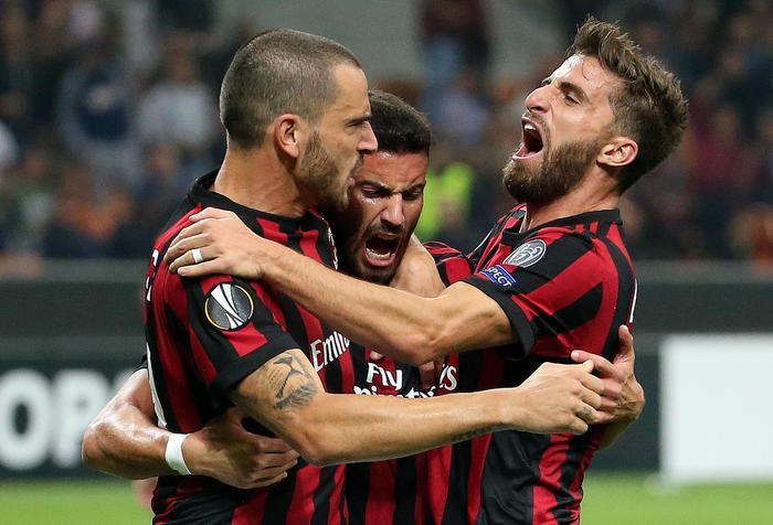 Europa league, il Milan vince al 94' col Rijeka: l'Atalanta pareggia a Lione