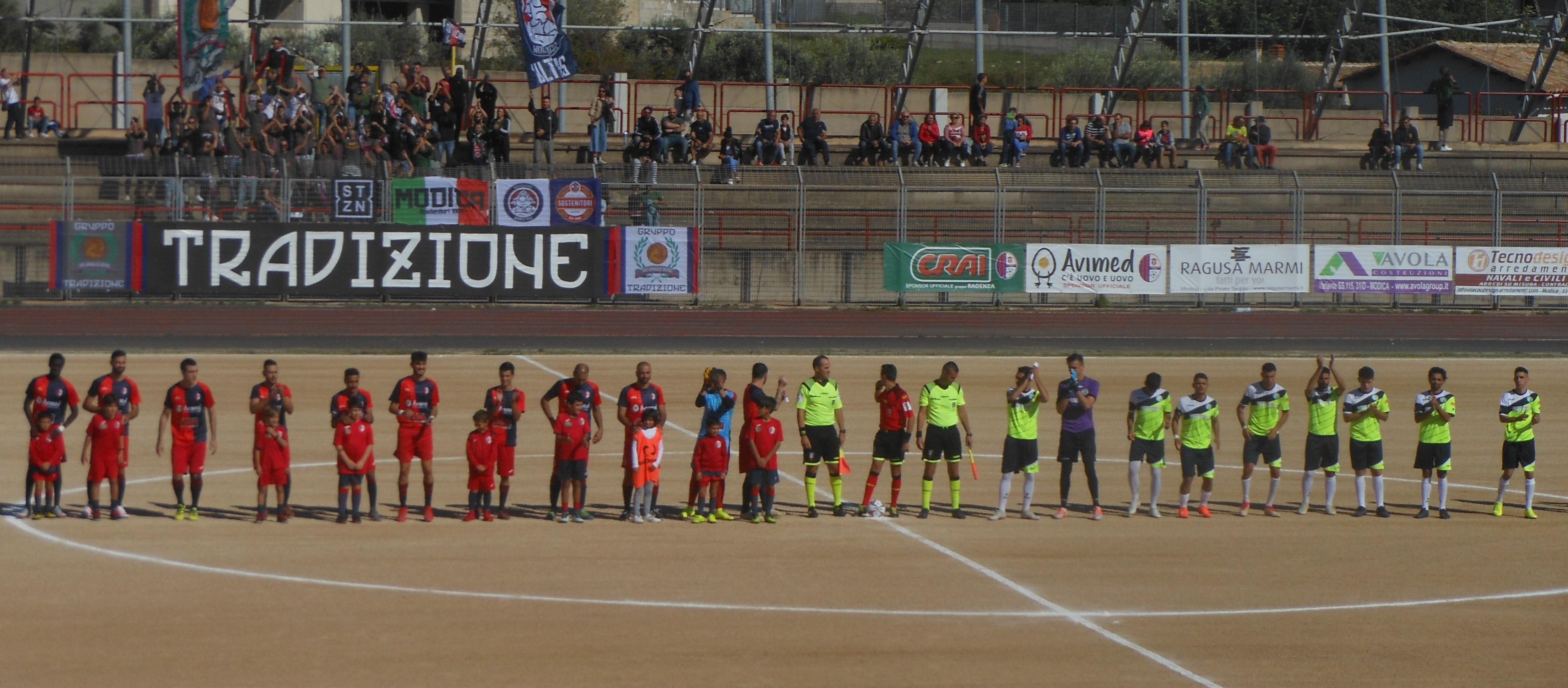 Calcio, Promozione: il Modica spreca troppo e il Priolo porta via un punto ( 1 a 1 )