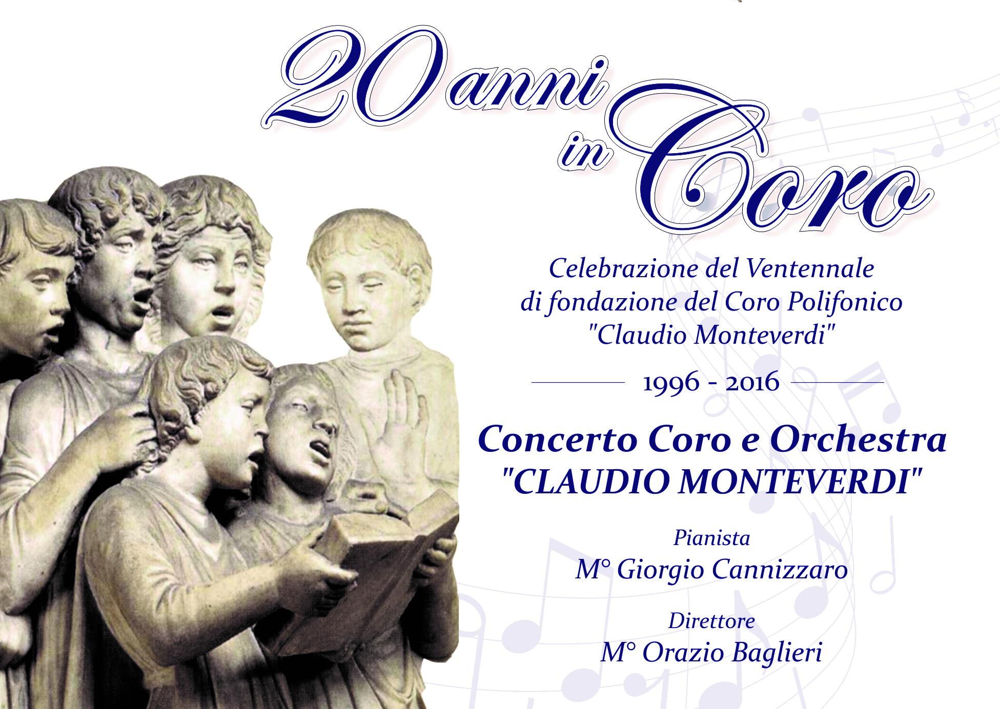 """Modica, si celebrano i 20 anni del """"Coro polifonico Claudio Monteverdi"""""""