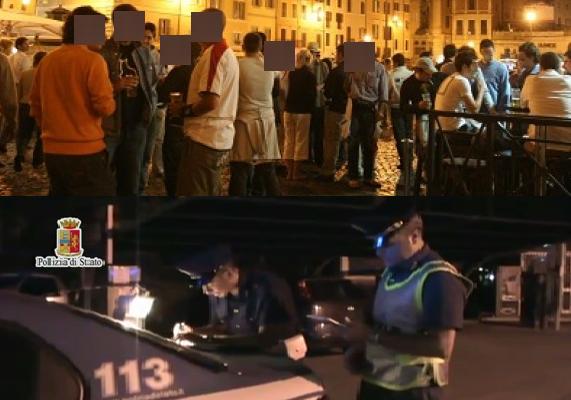Controlli della polizia nella movida palermitana, denuncia e multa