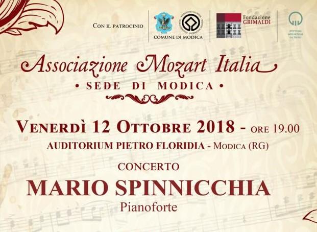 Modica, Associazione Mozart: venerdì 12 concerto per pianoforte