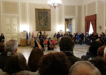 Municipio di Catania aperto al pubblico, applausi a Strings Trio