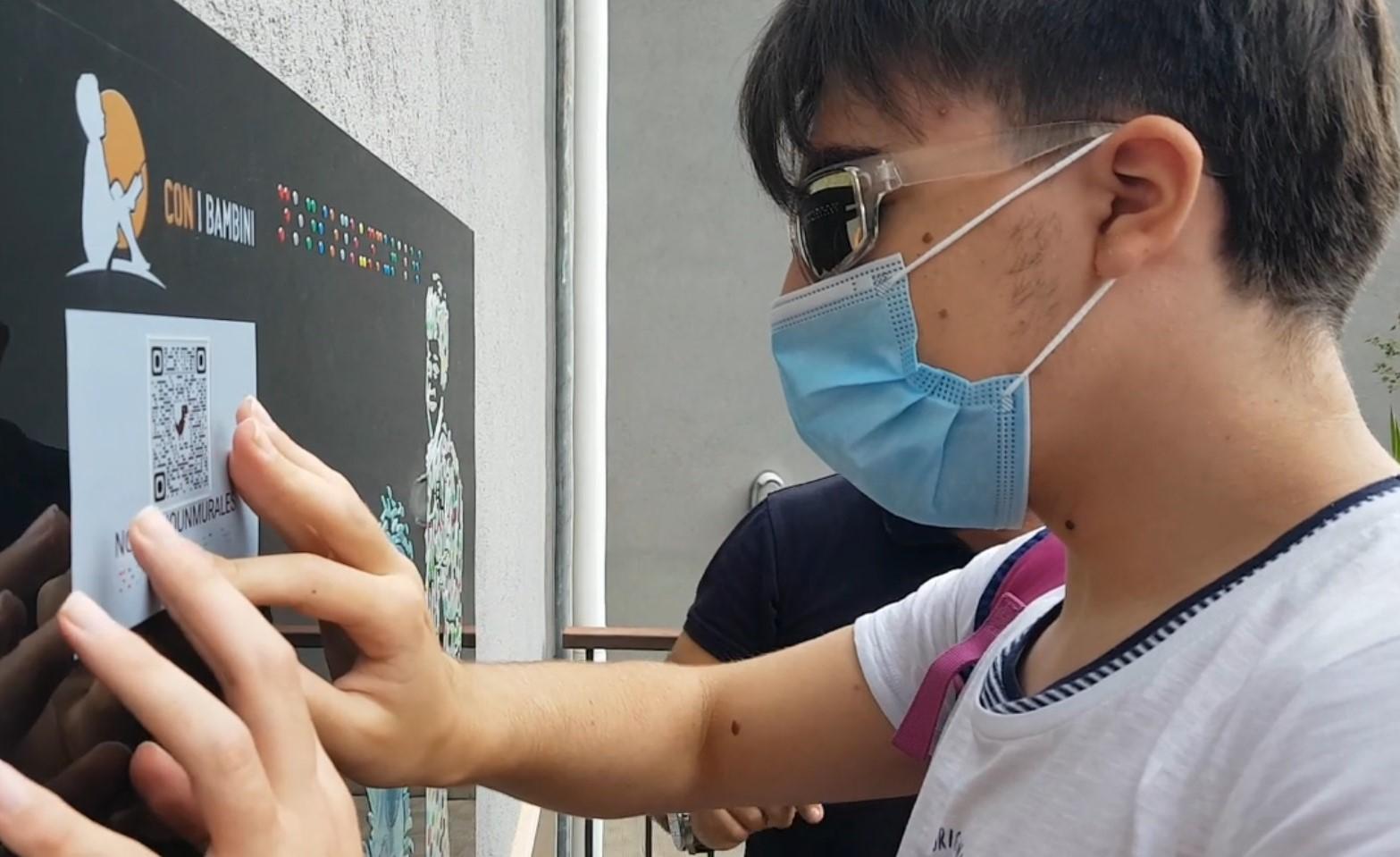 Catania, Unione italiana ciechi: un murale a rilievo realizzato dalla Stamperia Braille