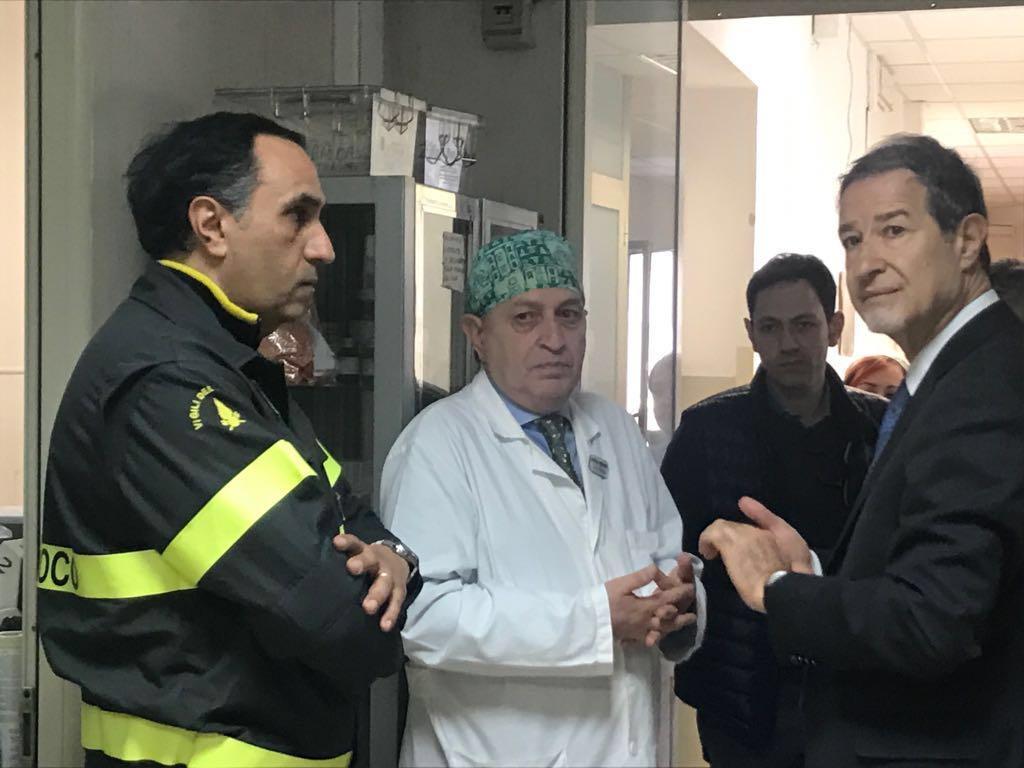 """Catania, Musumeci incontri i due pompieri feriti al """"Fortino"""""""
