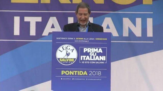 """Musumeci a Pontida dalla Lega: """"Il Sud non è solo un serbatoio di voti"""""""