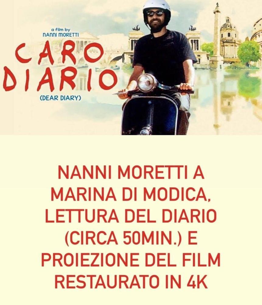 """A Marina di Modica serata evento con il regista Nanni Moretti e il film """"Caro Diario"""""""