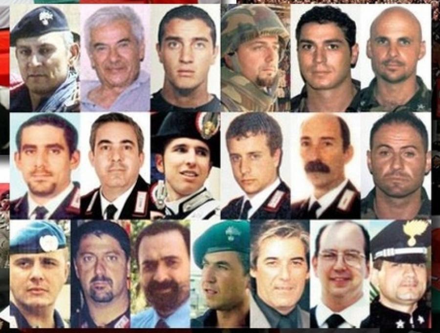 Sedici anni fa la strage di Nassirya in Iraq, il ricordo dei 19 militari italiani  uccisi