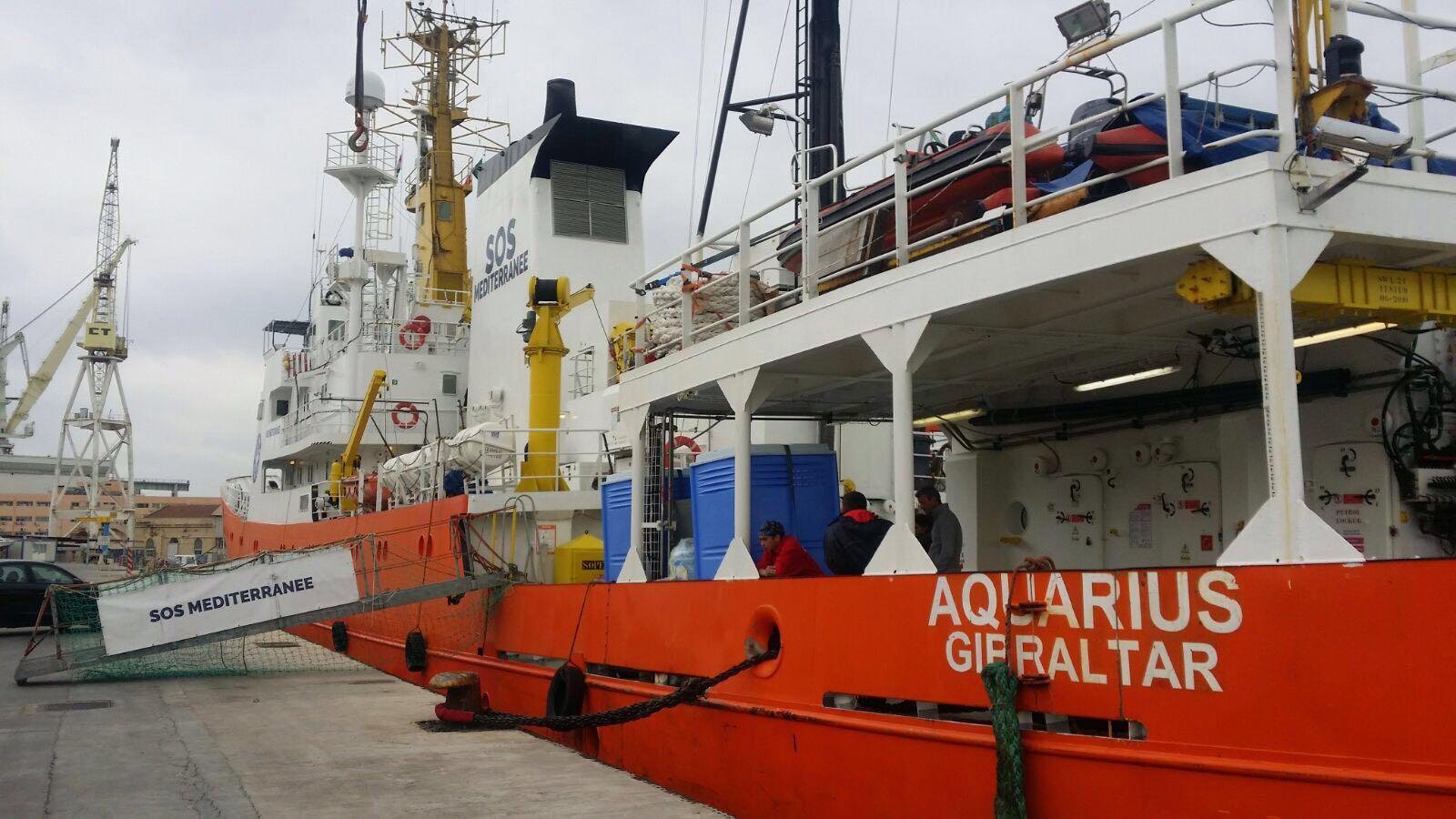 Catania, arriva domattina al porto nave Aquarius con 105 migranti